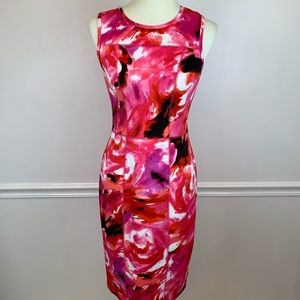 Maggy London contouring vibrant summer dress